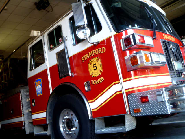 Stamford firefighters responded to a fire on Hazel Street on a freezing cold New Year's Eve.