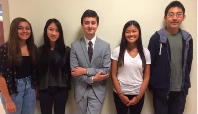 Left to right: Jean Zamora, Sarah Xu, Gjeorgiinio Brulaj, Zilana Lee and Henry Shi.