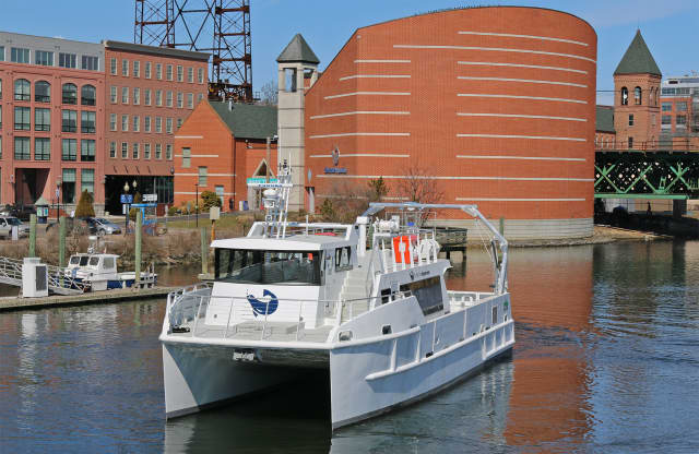 The replacement of the Walk Bridge over the Norwalk River will mean the acquisition of the IMAX Theater at the Maritime Aquarium