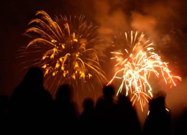 Fireworks in Stamford.