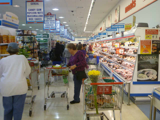 Shop Rite shopppers stocked up on non-perishables and other items in preparation for Hurricane Sandy.