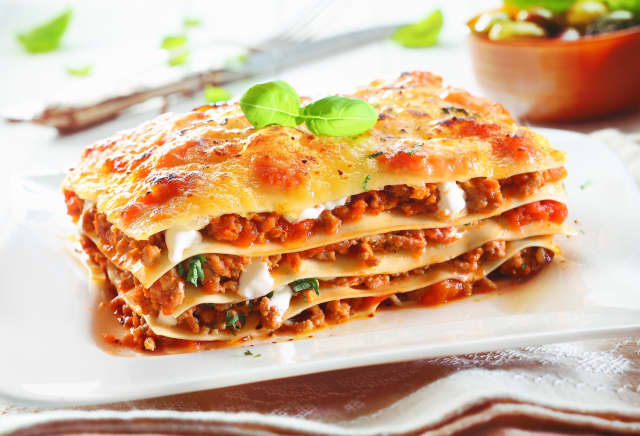 The classic favorite Lasagna Bolognese is one of the dishes served up by Good2Gourmet of New Canaan.