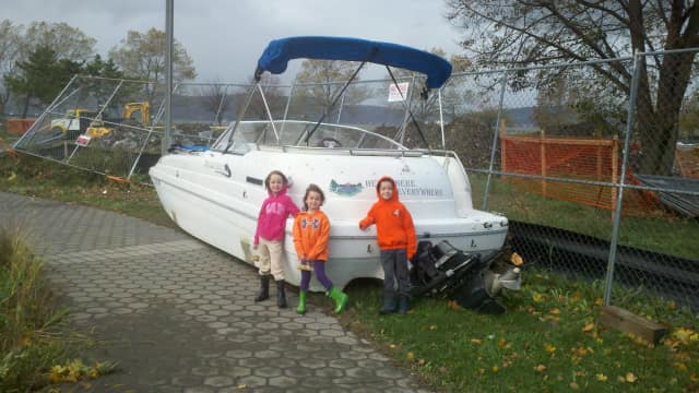Hurricane Sandy moved a boat from the Tarrytown Marina to Pierson Park.