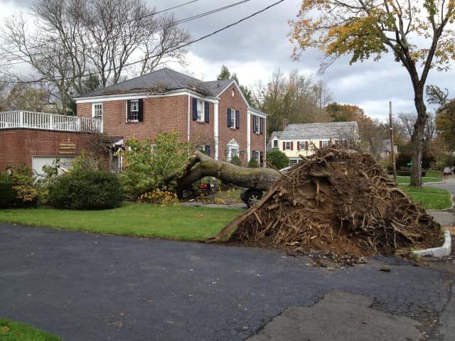 There is still plenty of devastation, and thousands of residents without power in Scarsdale.
