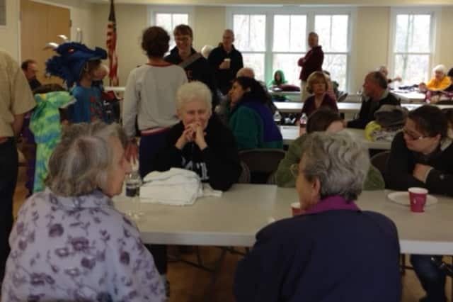 The scene at the North Salem Volunteer Ambulance Corps shelter Wednesday.