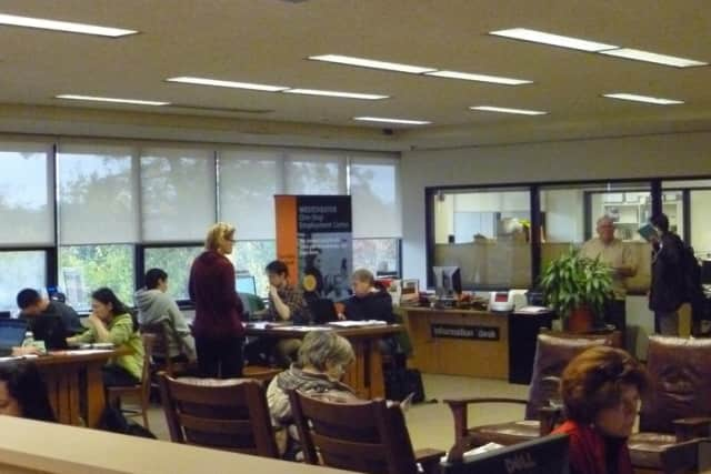 Warner Library remained packed to its limit Wednesday afternoon as residents took advantage of power and WiFi.