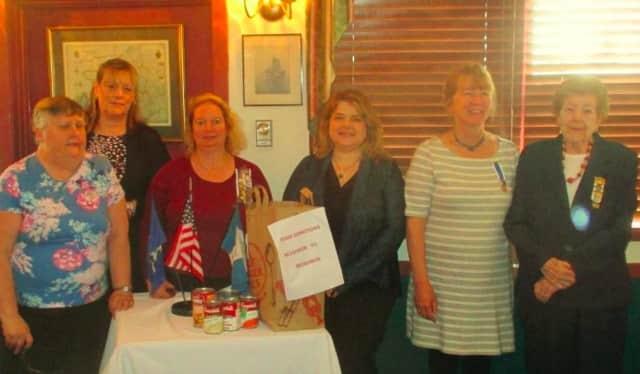 From left, Dee Jones,treasurer and honorary regent; Jackie McBride; Katie Sumner, regent; Rebecca Boutsikoudis, historian; Jeanne Delarm-Neri, corresponding secretary; and Carol Liberty, librarian.