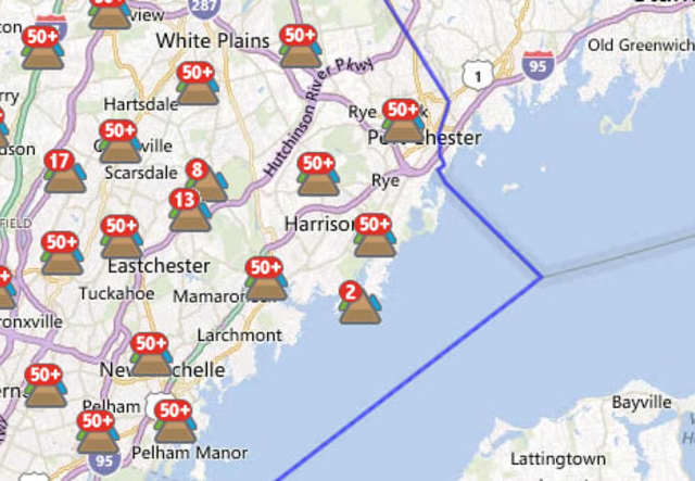 More than 165,000 customers out of 348,198 total customers served by Con Ed in Westchester are out of power as of Thursday morning.