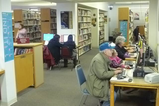 Westchester residents of all ages have been patrons of the Harrison Public Library since power was knocked out for many during Hurricane Sandy.