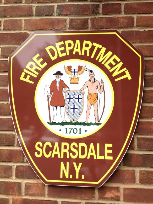 Scarsdale firefighters responded to a fire on Cayuga Road on Saturday.