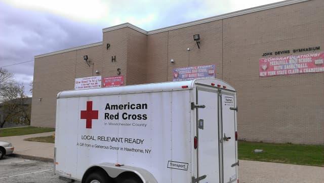 The shelter at Peekskill High School will remain open Thursday night.