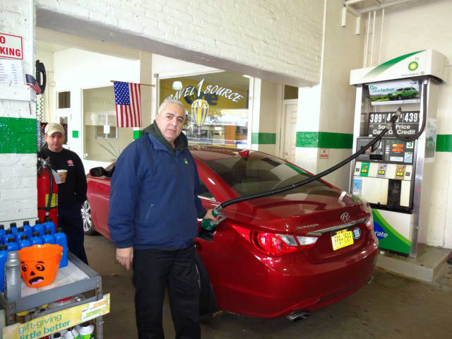 Some motorists waited in line for more than 10 minutes for gasoline in Bronxville.