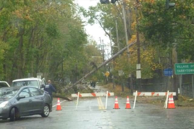 Downed trees and wires from Hurricane Sandy closed the Public Schools of the Tarrytowns for three days this week.