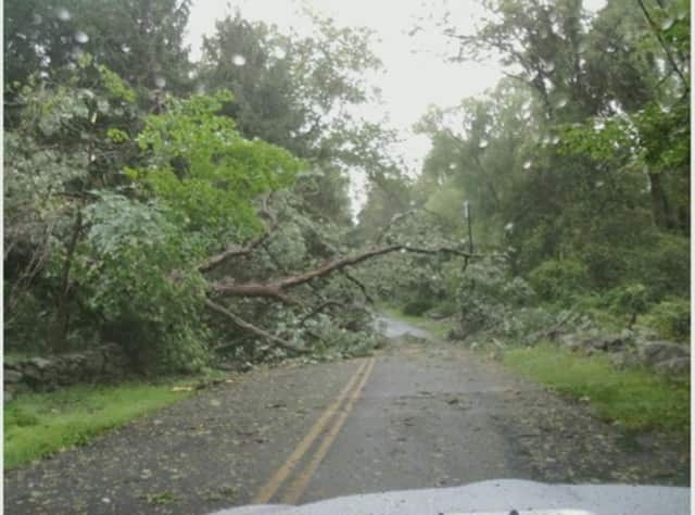 With winds whipping upwards of 40 mph and a steady stream of rain pounding the area, numerous area residents have been left in the dark after losing power due to the storm.
