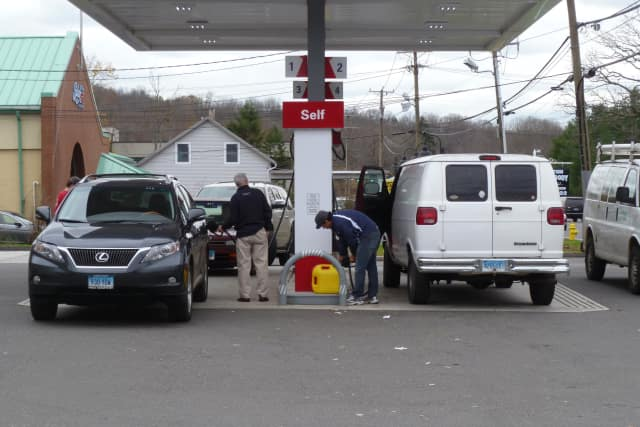 Fuel stations in Wilton were busy as customers bought gas for vehicles and generators after the storm, and as concerns about possible gas shortages began to arise.