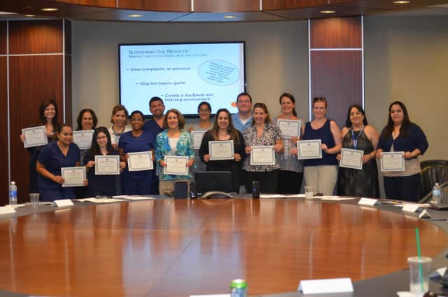 """The most recent graduating class of the WCA Hudson Valley Workforce course """"Managing the Customer Experience."""""""