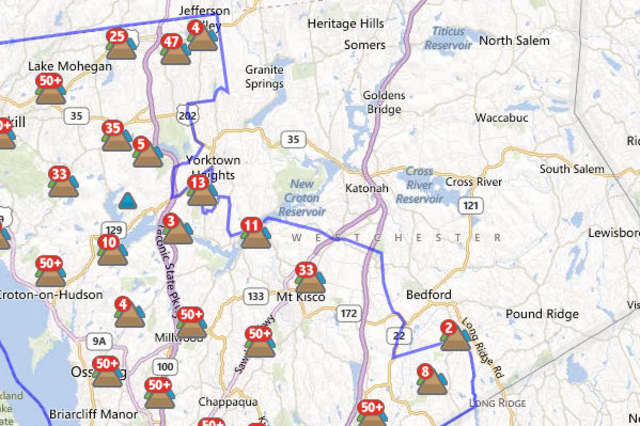 More than 139,000 customers out of 348,198 total customers served by Con Ed in Westchester are out of power as of Friday morning, down from more than 165,000 Thursday morning.