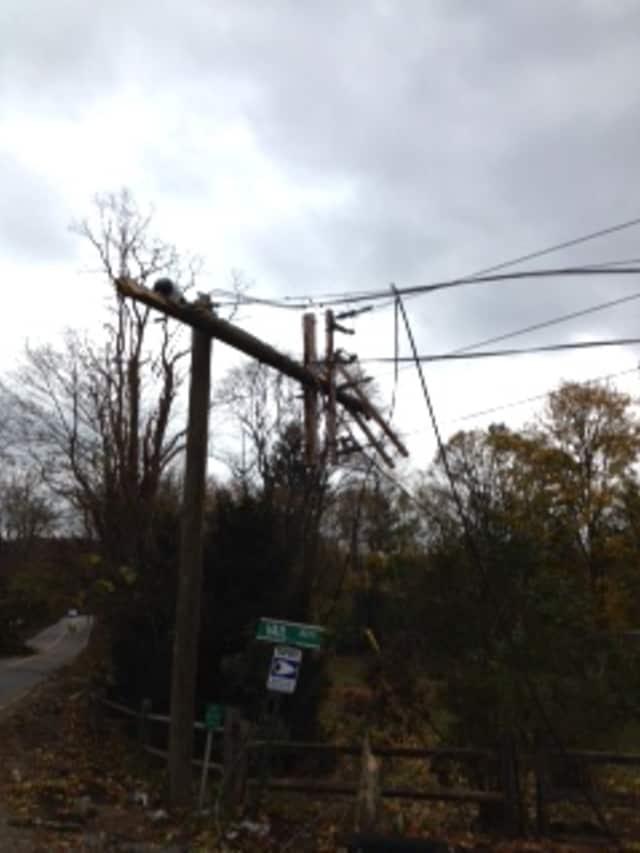 North Salem struggled on without power Thursday.