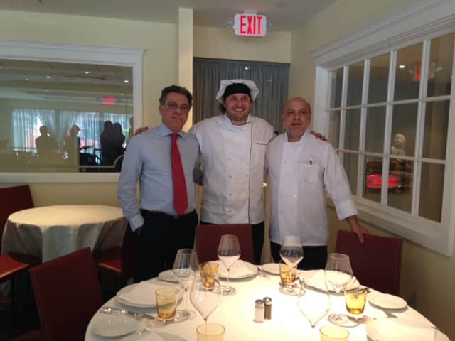 Left to right: Gerardo Bruno, Chef  Stefano Gentili and Cosimo Bruno of Le Sirene Ristorante.