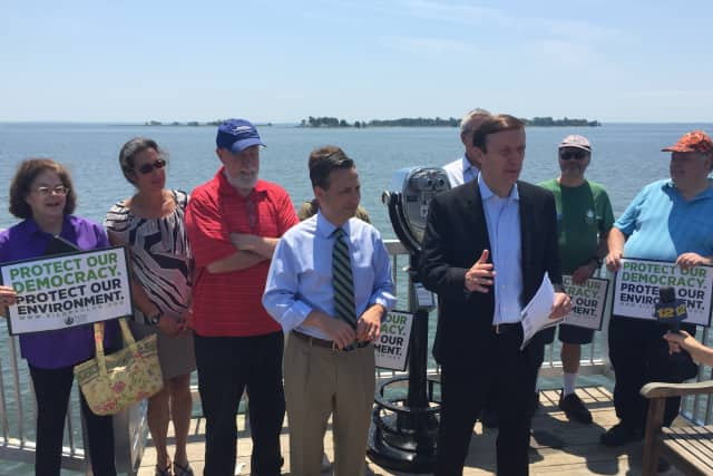Sen. Chris Murphy discusses his new bill to bring $65 million a year to improve the water quality of Long Island Sound and manage shorelines of towns along its coast.