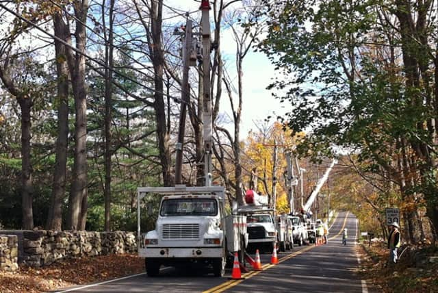 Part of Route 202 in Somers is closed for utility pole replacement.