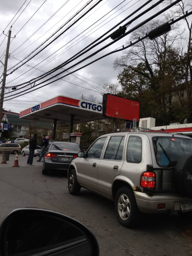 Gas has been hard to find and lines long in the wake of Sandy.