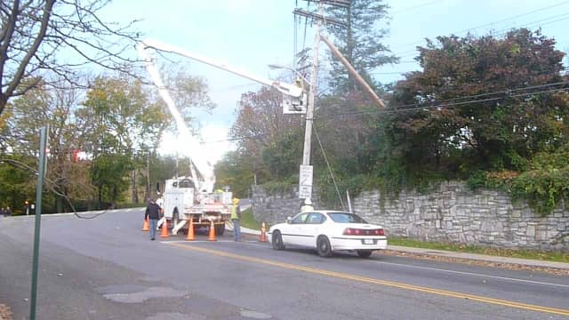 Utility crews had power restored allowing Hastings High and Middle School to open Monday.