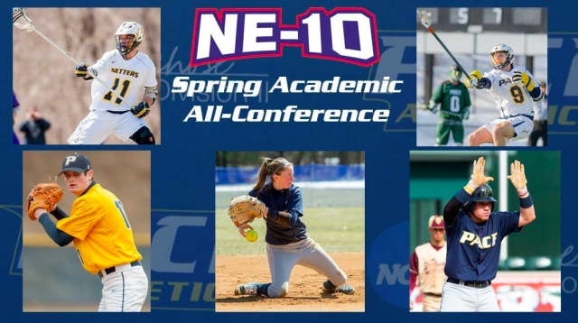 Five Pace Student Athletes were named to the NE-10 Spring honor roll.
