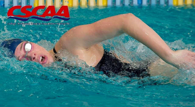 Paula Castelblanco earned academic honors for the Setters swim team this past year.