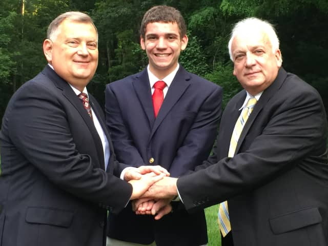 From left, Michael Milner, Aaron Spring and John Perillo.