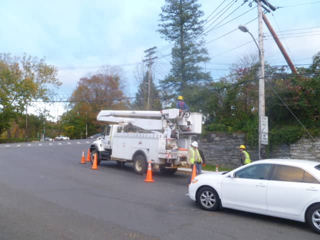 Crews are working in Dobbs Ferry  to restore power to the nearly 500 Con Edison customers in the village without service.