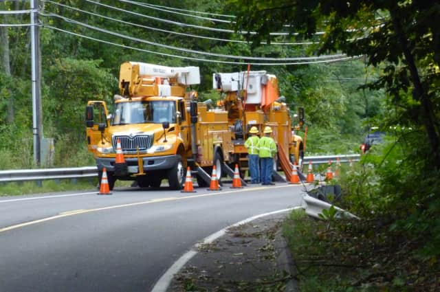 The New Canaan YMCA will give shelter to CL&P crews who are working to restore power to the town.