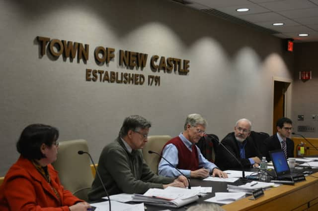 The New Castle Planning Board, pictured at a previous meeting.