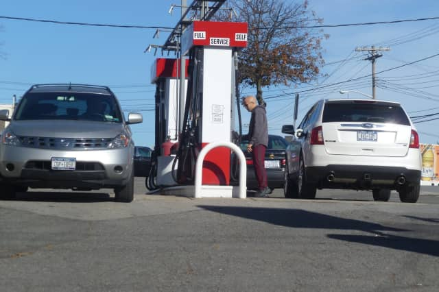 Cars were filling up Tuesday afternoon at the Citgo gas station in Harrison.
