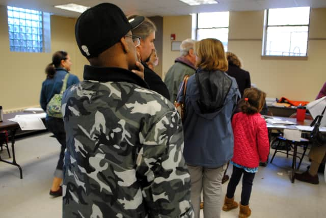 """Voter turnout was """"steady"""" according to election inspectors at Croton's Stanley H. Kellerhouse Muncipal Building."""