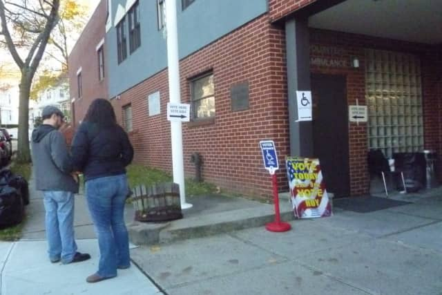 The polling station inside the Ossining Volunteer Ambulance Corps saw a very busy election day.