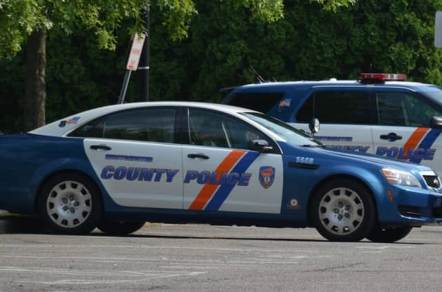 Westchester County police vehicles in Mount Kisco.