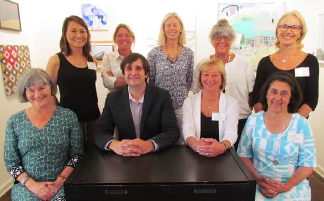 Officers (seated from left) are Lynn Julian, secretary; Bruce Horan, vice president; Kathy Leeds, vice president; and Ana Mernick, treasurer. Board members (standing from left) are Yuko Ike, Amy Schott, Joanna Bridges, Pat Atkin and Eunice Roy.