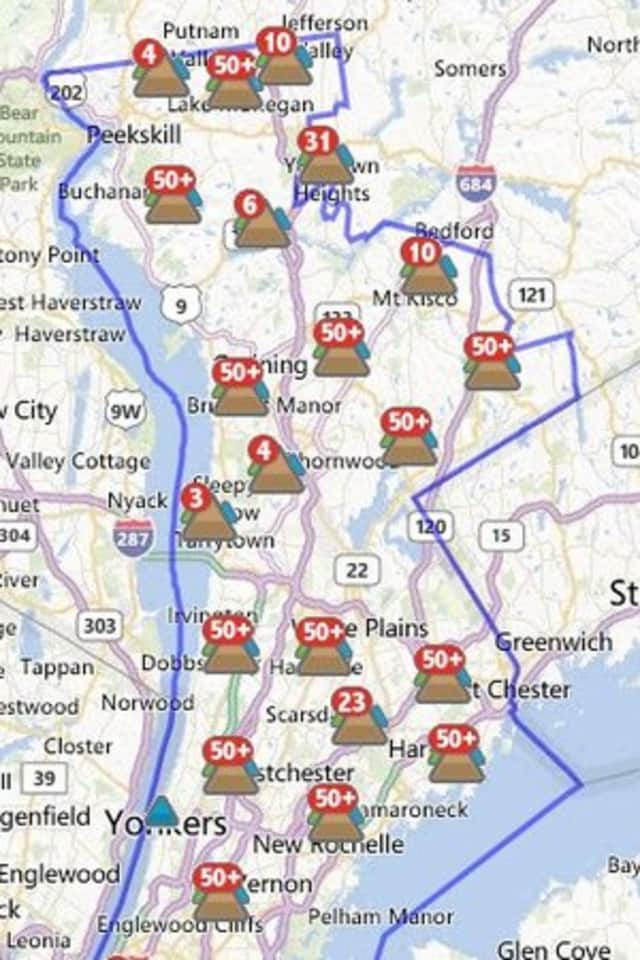 More than 3,300 New Castle customers were without power Wednesday morning.