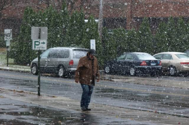 The National Weather Service is warning that the first snowfall of the year is heading toward Fairfield County.