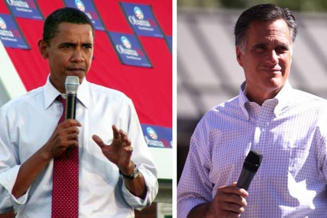 Gov. Mitt Romney, right, was the choice for Wilton voters in Tuesday's election. Romney beat President Barack Obama by more than 900 votes in town.