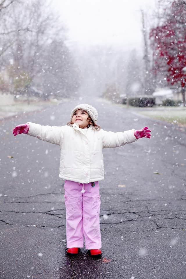 Laila enjoying  the snow.