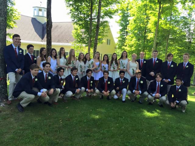 The Class of 2015 at the Stratton Mountain School included Dale Braverman and Olivia Burwell, both of Weston, and Patrick McNamara, of Ridgefield.