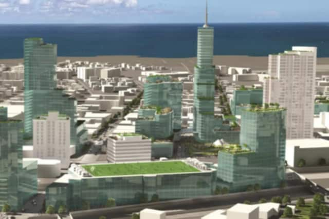An artist's rendering of what downtown New Rochelle may look like by the end of the redevelopment.