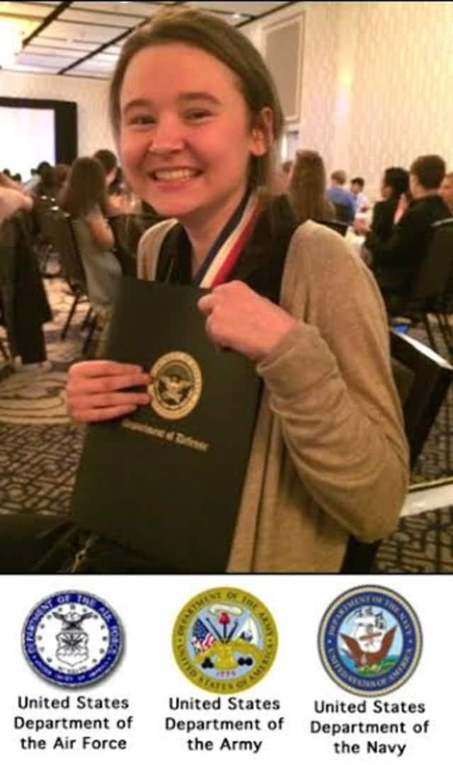 Ossining High School's Juliet Ivanov was awarded top honors and a scholarship at the National Junior Science and Humanities Symposium.
