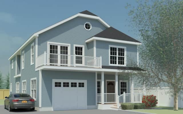 Nine new modular homes similar to this one will soon be on the market on Helena Avenue in Yonkers.