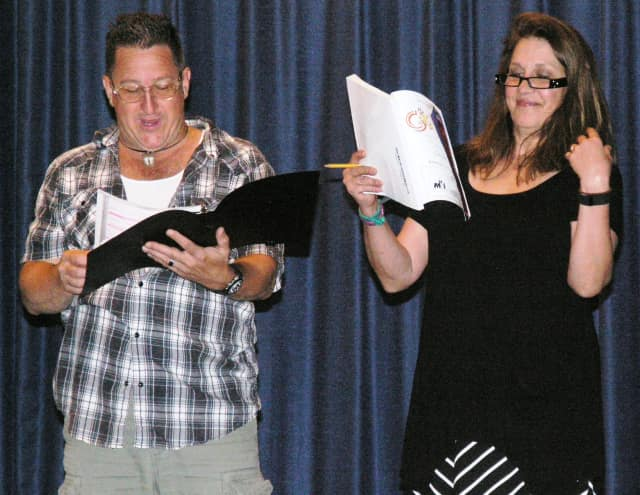 """Richie Murden and  Rae West star in the Mount Pleasant Community Theater production of """"Guys and Dolls."""""""