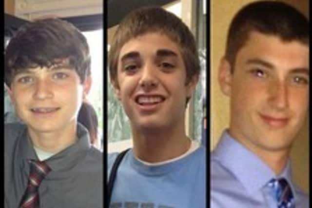 Ryan Lesher, Shamus Digney and Cullen Keffer were killed in the  accident.