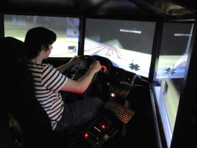 Briarcliff High School students tested out the Westchester County Department of Public Safety's drunk driving simulator.
