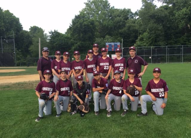 The winning Ossining Little League team.